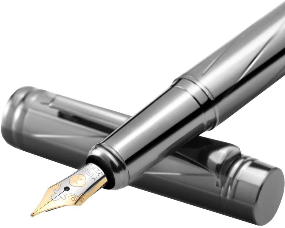 Modern Design of Black Paint Mental Fountain Pen Medium Nib