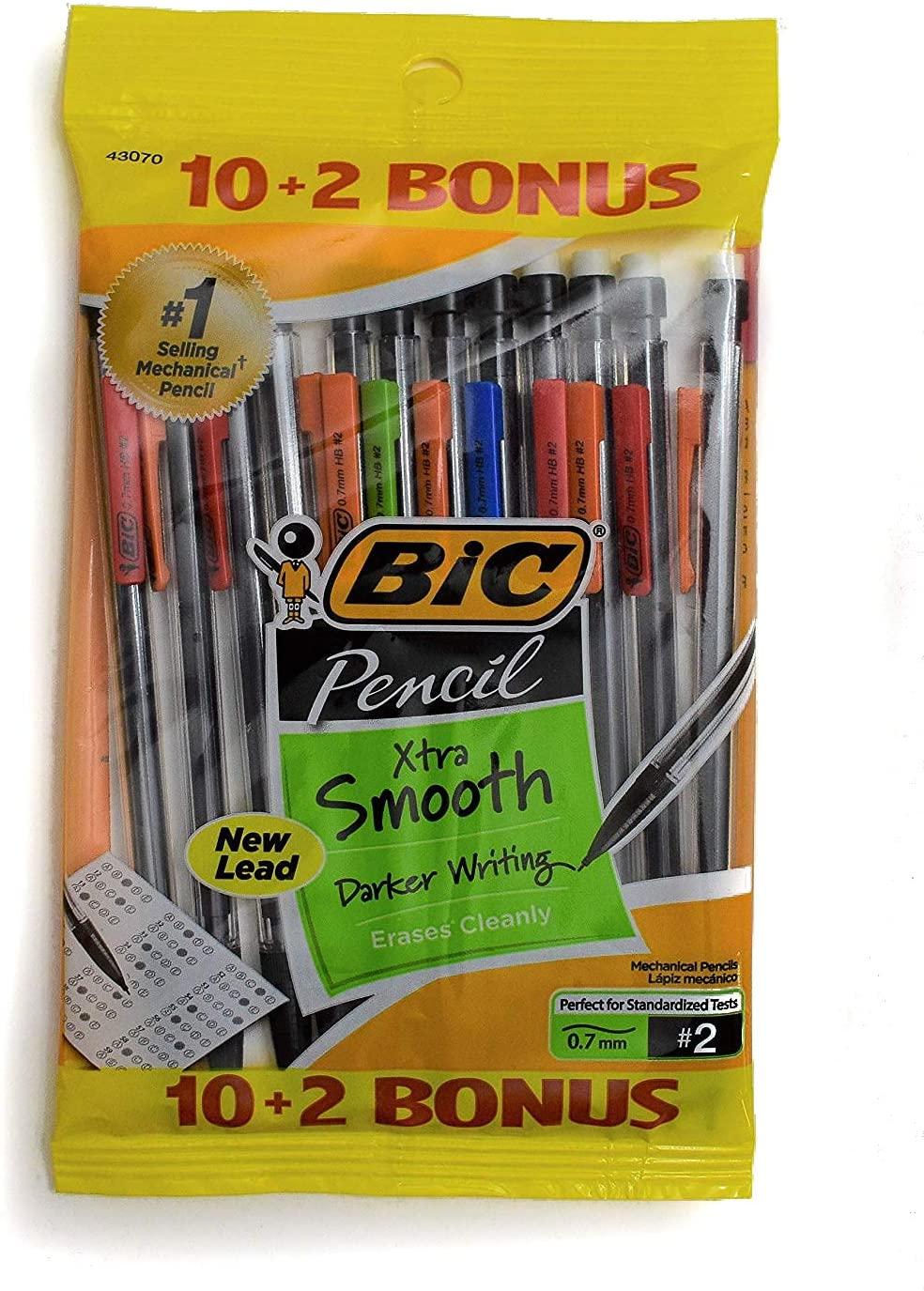 BIC Pencil Xtra Life, Medium Point (0.7mm), 12 Count