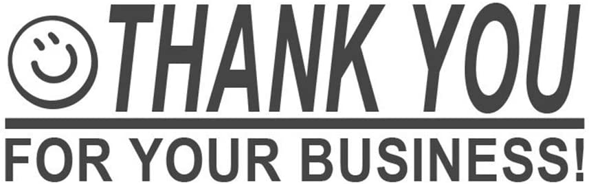 Thank You for Your Business!, pre-Inked Office Rubber Stamp (#761709-58BE)