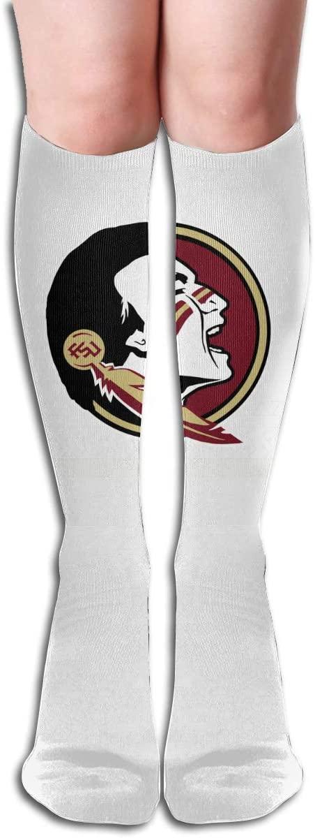 FSU Mens/Womens Comfortable Casual Funny Long Knee High Socks Compression Socks Winter Warm Soccer Socks