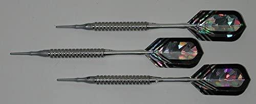 P4 SilverLine Knurled 80% Tungsten 20g Convertible Steel/Soft Tip Darts Style #6