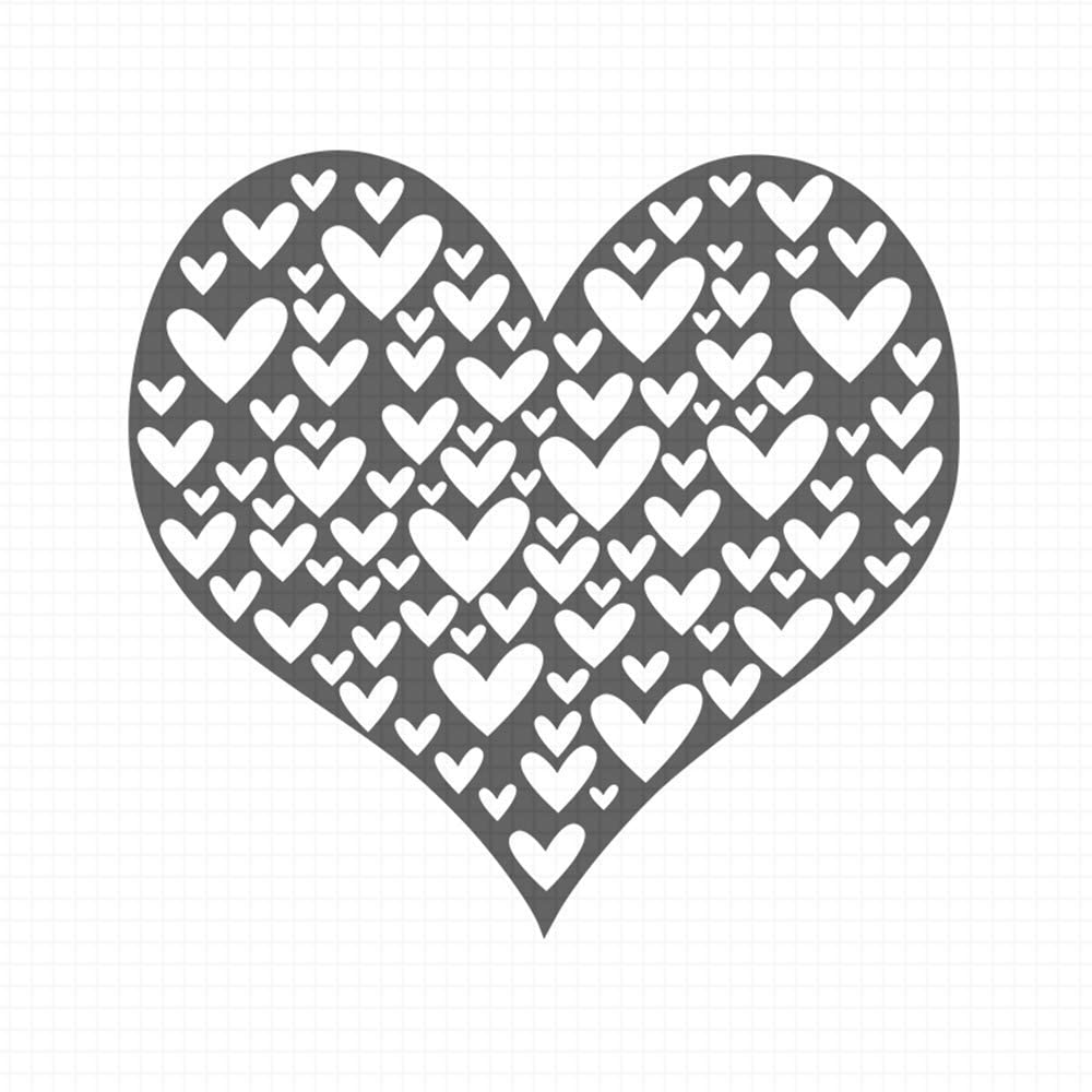 Heart Image, pre-Inked Rubber Stamp (#100809-30BE)