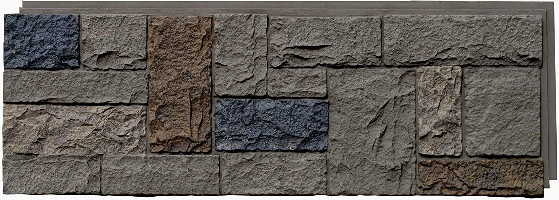 NextStone Polyurethane Faux Stone Panel - Castle Rock - Tudor Gray (4 Panels per Box)