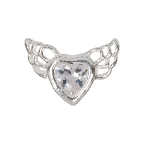 Zink Color Nail Art Luxe/Bridal Chrome Crystal Heart