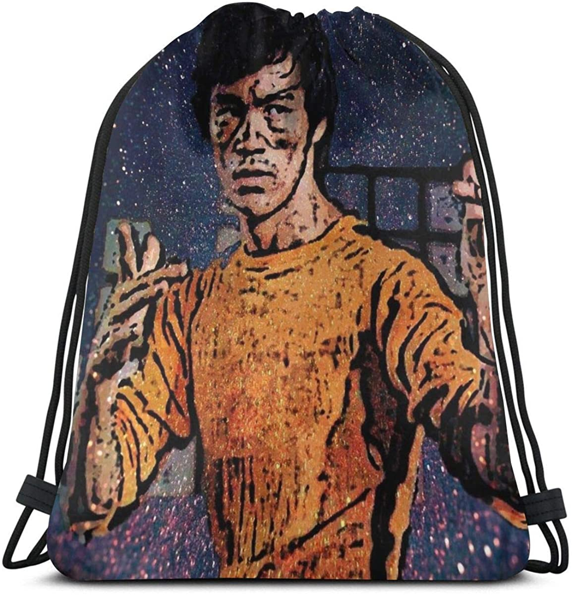 Bruce Lee Drawstring Bag Sports Fitness Bag Travel Bag Gift Bag