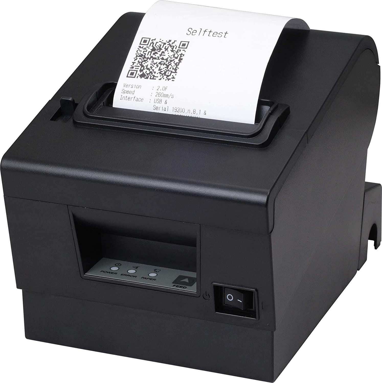 80mm Thermal Receipt POS Printer with USB Serial Ethernet Windows Driver ESC/POS RJ11 RJ45 for Cash Drawer