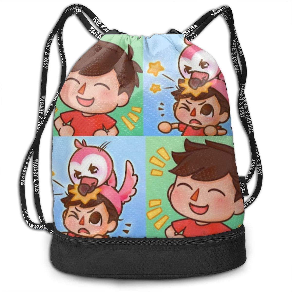 9jiuguiyi Albertsstuff Flamingo Drawstring Bags Multifunction Bundle Backpack Large Capacity Lightweight Simple Portable for Women Kids School Gym Travel