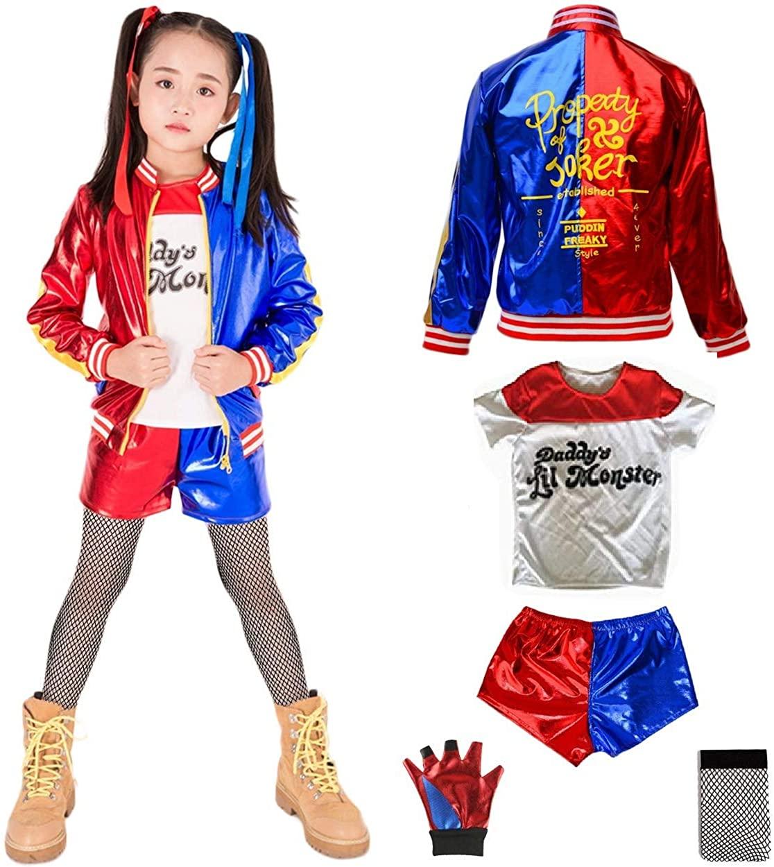 HOE-SPANDEX Harley Quinn Costume for Kids