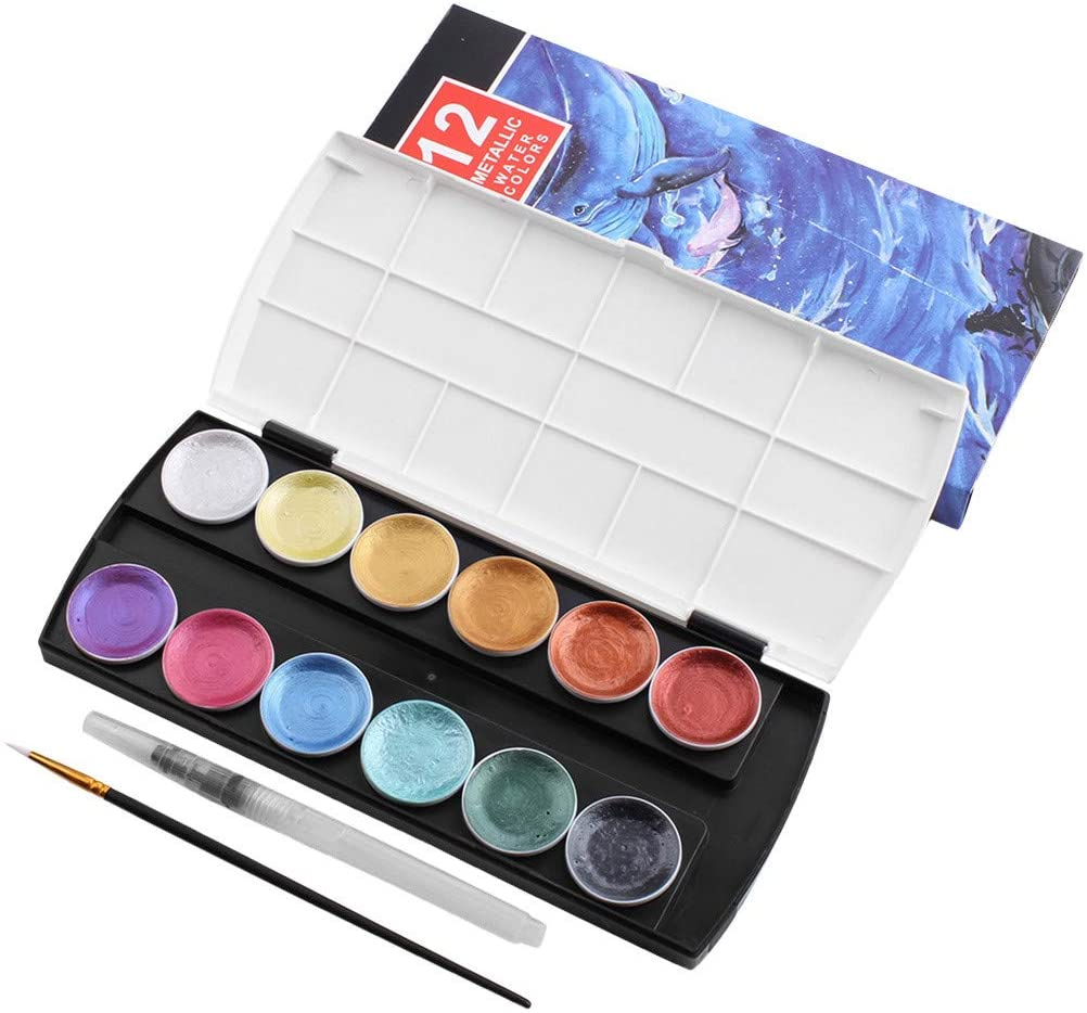 Fineday Solid Watercolor Paint Set Paints Watercolor Water Brush Paint Set Art Supplies, Office & Stationery HotSales (Multicolor)