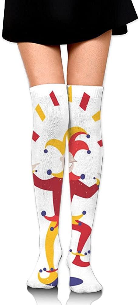 JINYOUR Joker Dance Card Women's 60cm Knee High Socks Thigh High Stockings