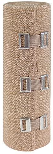 WellWear Elastic Bandage with Clips, 6 Inch, 12 Count (Pack of 12)