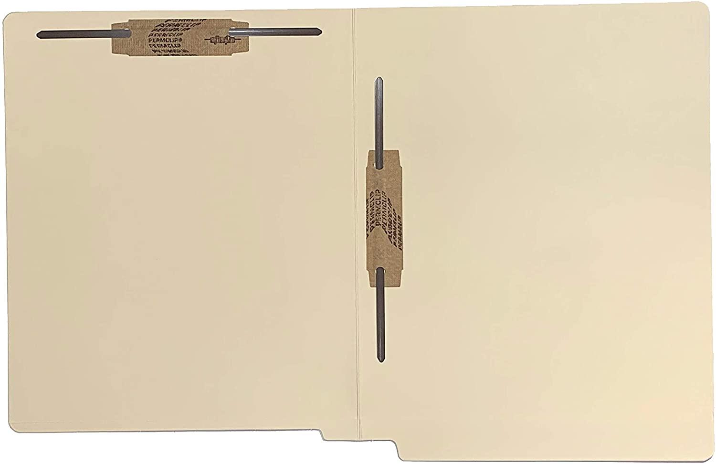14 PT Manila Double Edge End Tab File Folder, Fastener (2B3&5), Letter Size, 50/Box