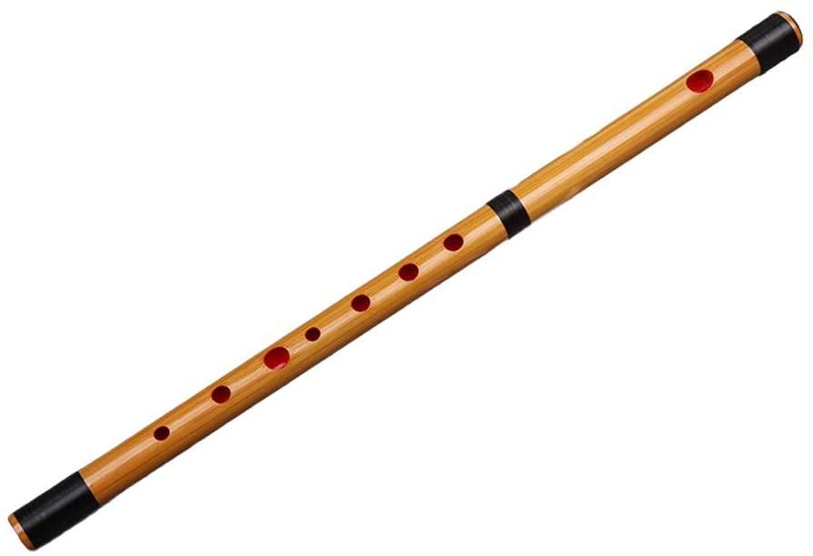 Guanso Shinobue Bamboo Flute Dizi Single Section Key of D E F Five-Year-Old Bitter Bamboo (Color : D Key)