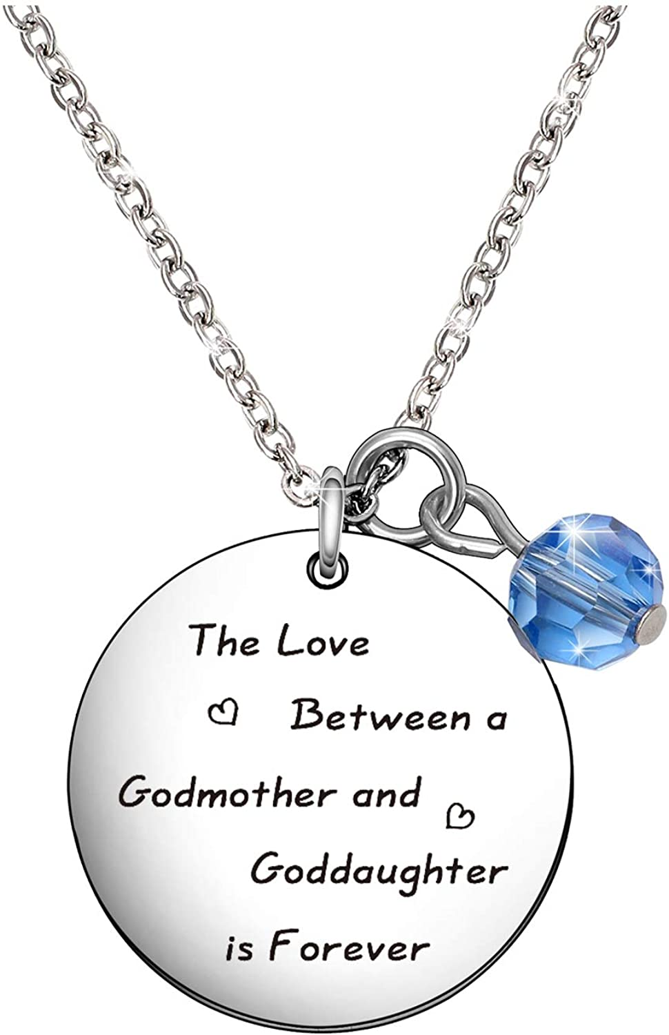 De&ai The Love Between a Godmother and Goddaughter is Forever Necklace Godmother Goddaughter Jewelry Aunt Niece Gift