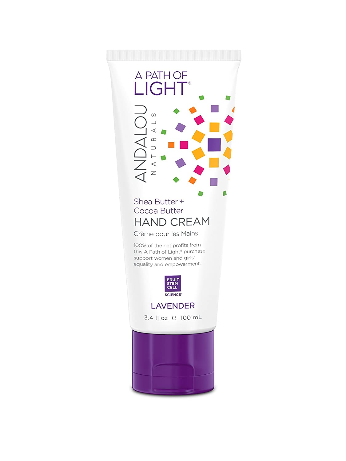 Andalou Naturals Lavender Hand Cream, 3.4 Ounce