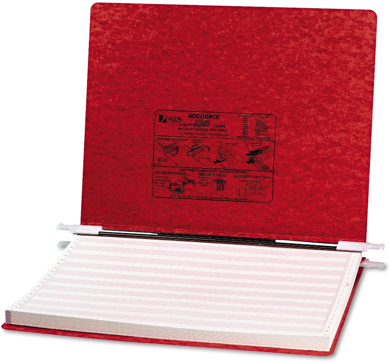 Acco 54079 Presstex Hanging Data Binder, 14-7/8 x 11, 6-Inch Cap, Bright Red, 1/EA