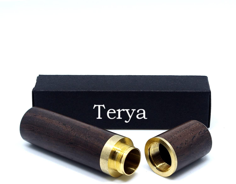 Terya Wood Toothpick Holder Portable Toothpick Holder Dispenser Pocket Toothpick Holder (Dark Brown)