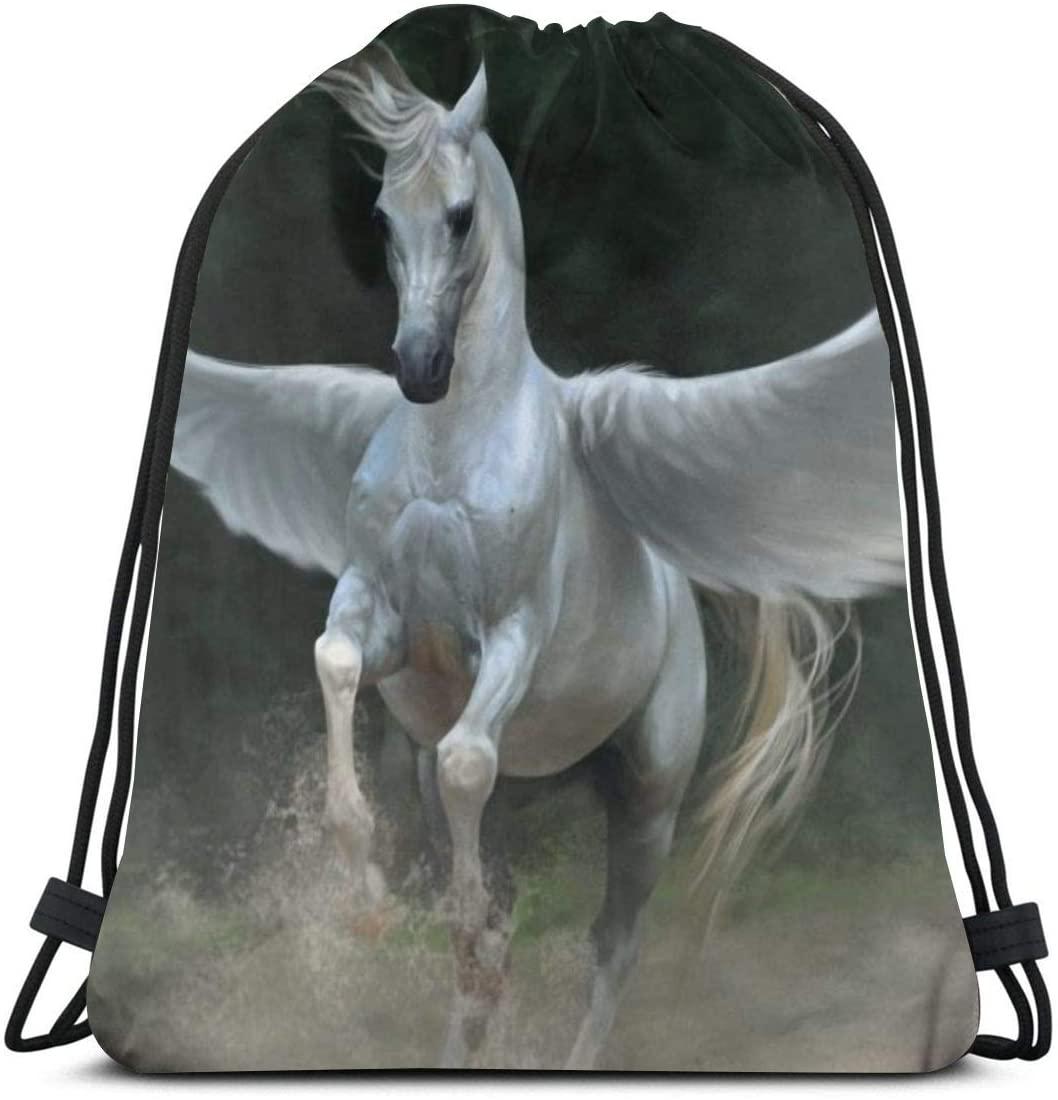 Drawstring Backpack Bags¡ê?Horse Sport Gym String Storage Sackpack