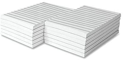 Memo Pads, White, With Black Lines, 50 Sheets Per Pad, 10 Pads (4 x 6)