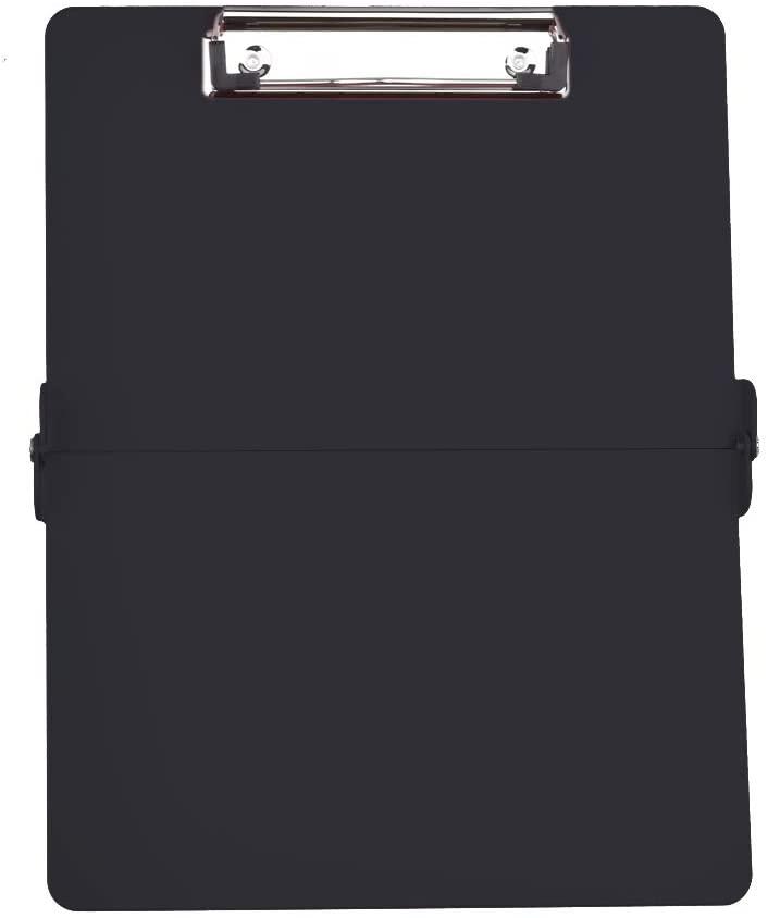 Foldable Clipboard Lightweight Aluminum Construction Full Size Clipboard for Business, Hospital,Office, School (Black)
