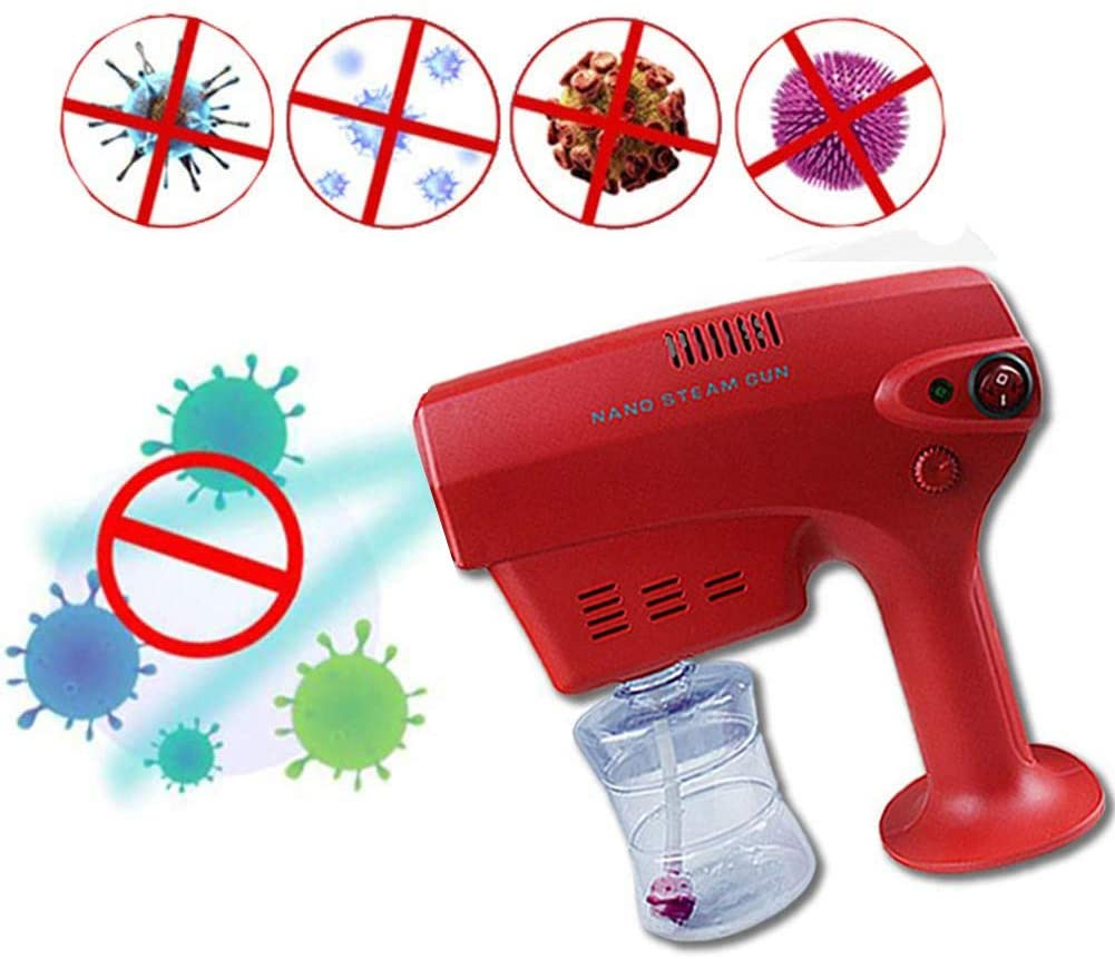 Nano Steam Gun with Blue Light, 260ML Spray Machine with Super Multiple Cooling Holes Disinfection and Sterilization for Office, Home and Beauty Salon