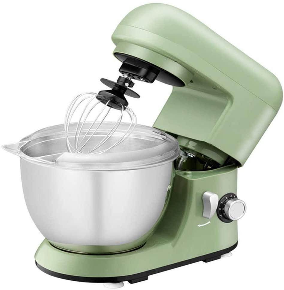 LEILEI Food Stand Mixer Dough Blender 4 L Cake Mixer with Beater Hook Whisk(Green)
