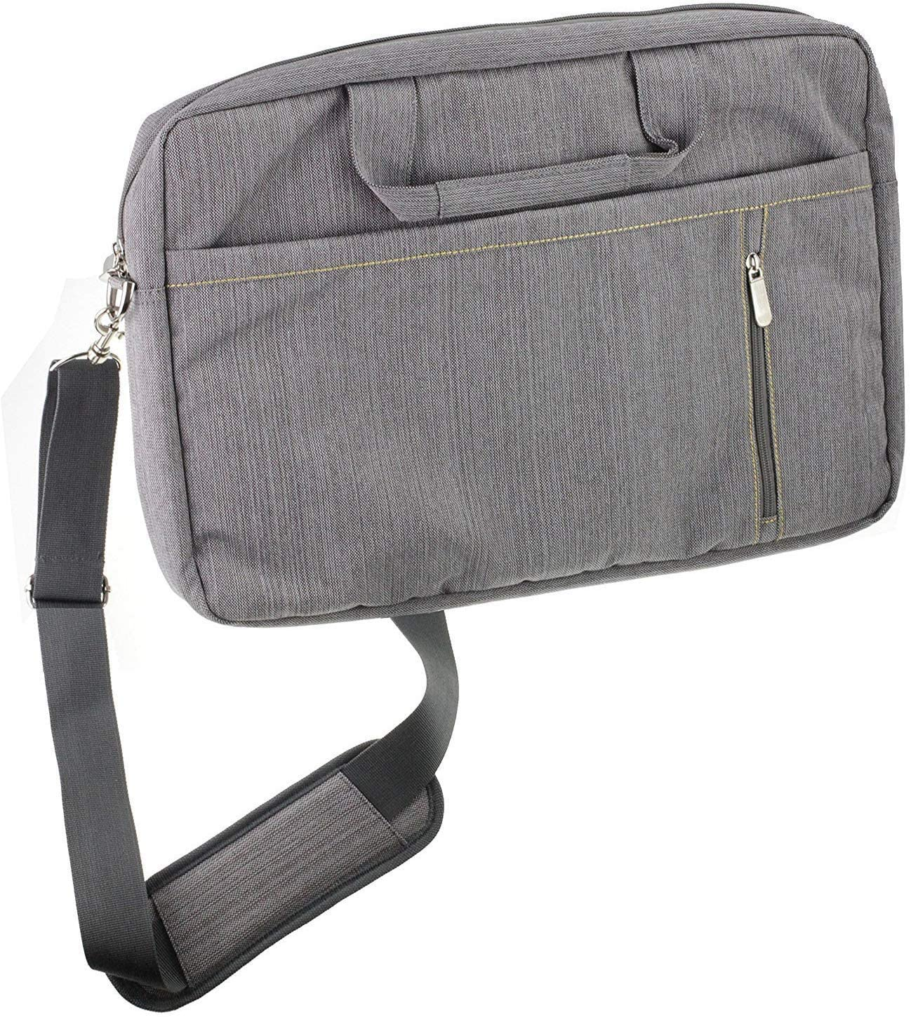 Navitech Grey Premium Messenger/Carry Bag Compatible with The Acer Aspire 5 A515-43 15.6 Inch Laptop