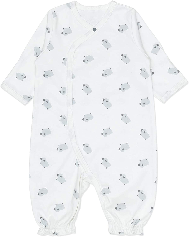 Vandis Organic Baba Newborn Snap Converter Sleeper Gown One-Piece with Matching Hat, 100% Organic Cotton White