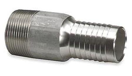 Value Brand, 3LZ92, Nipple, 1/2 in Barb, 1/2 in MNPT, Steel