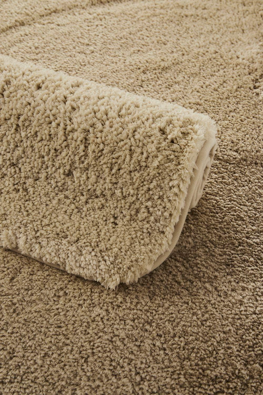 Bathroom Rugs Bath mat 16x24 inch, Upscale Non- Slip Shaggy Microfiber Shower Rugs, Water Absorbent Plush Floor Mats, Machine Washable Soft Thick Throw Carpet (16x24, Cream)