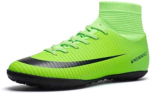 Linmatealliance Outdoor&Sports Outdoor&Sports Shoes High Top Non-Slip Wearable and Comfortable Football Boots Soccer Cleats for Men, Shoe Size:6.5(Long Spikes Black) (Color : TF Green)