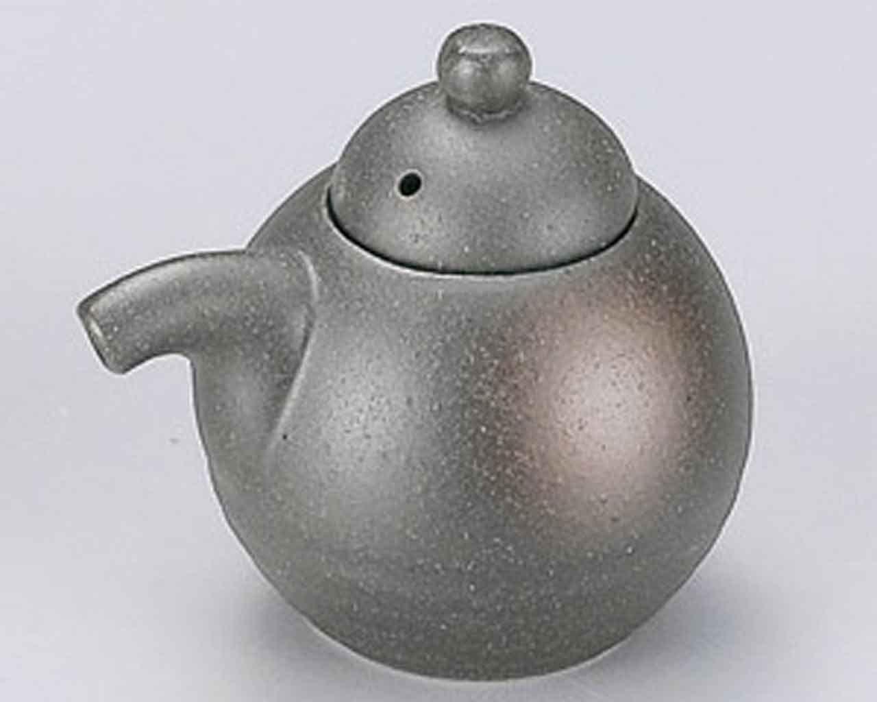 Bizen 3.3inch Soy Sauce Dispenser Grey porcelain Made in Japan