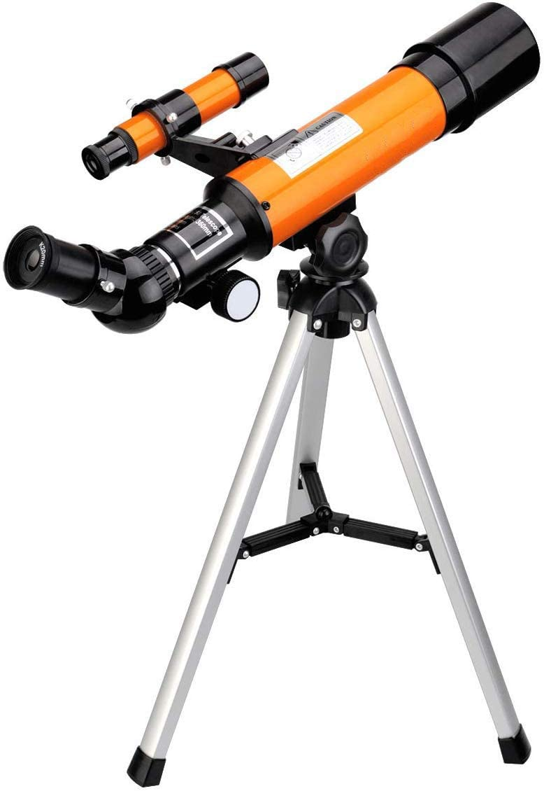 WUAZ Telescope for Kids Beginners with Super Lightweight Tripod Astronomy Telescope,Good Partner to View Moon and Planet