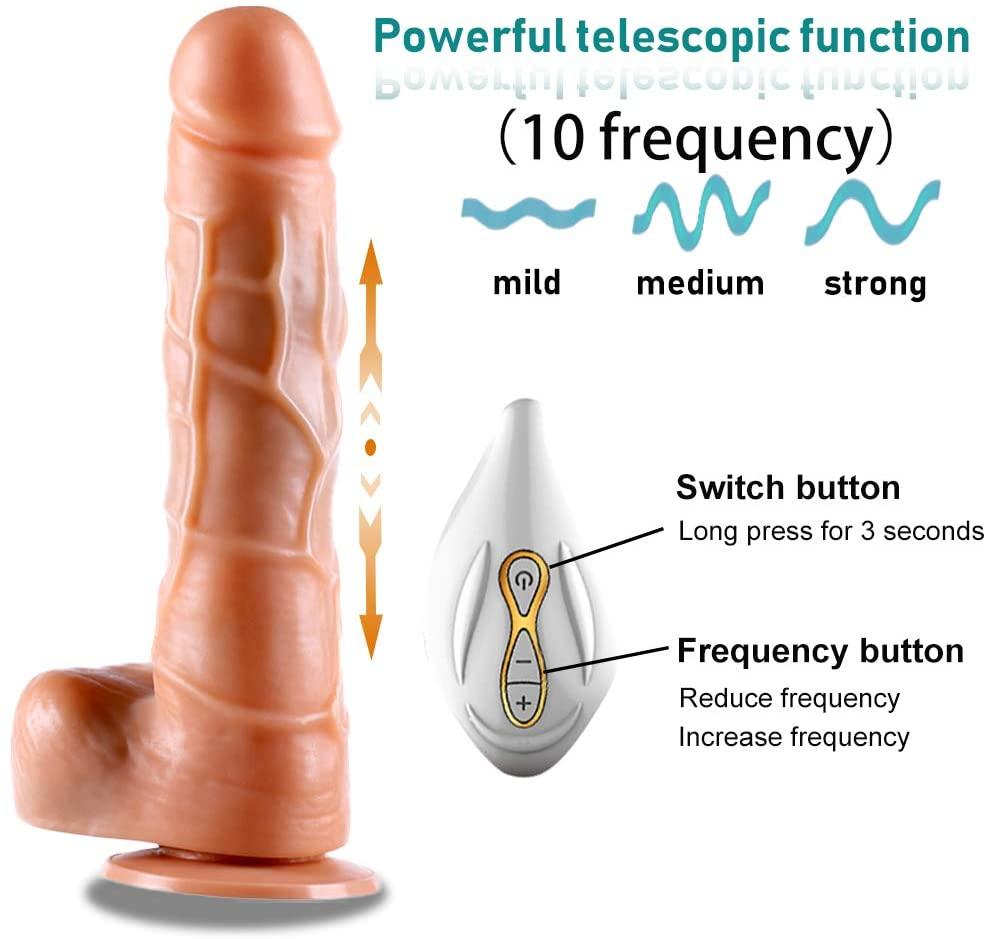 Incredibly Pê.nís Masturbation Toy Waterproof V¨bra'tion Six Machine Vibrate Toys Clitorial Di'dlos Thrûsting Gun Machine for Womens