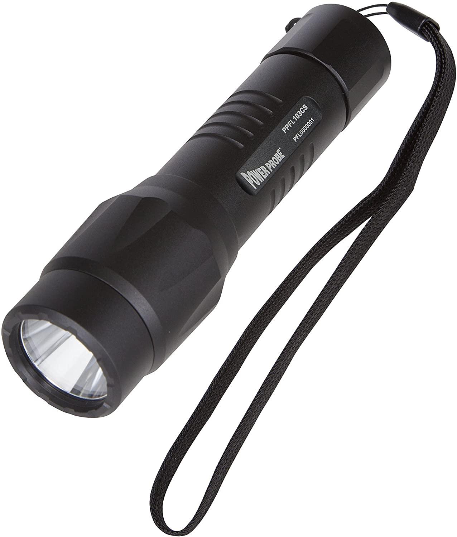 Power Probe Flashlight - Black (PPFL103CS) [Diagnostic Car Testtool, 800 Lumens LED Bulb, 4 Mode Tail Switch, Waterproof, Heavy Duty Aluminum Housing]