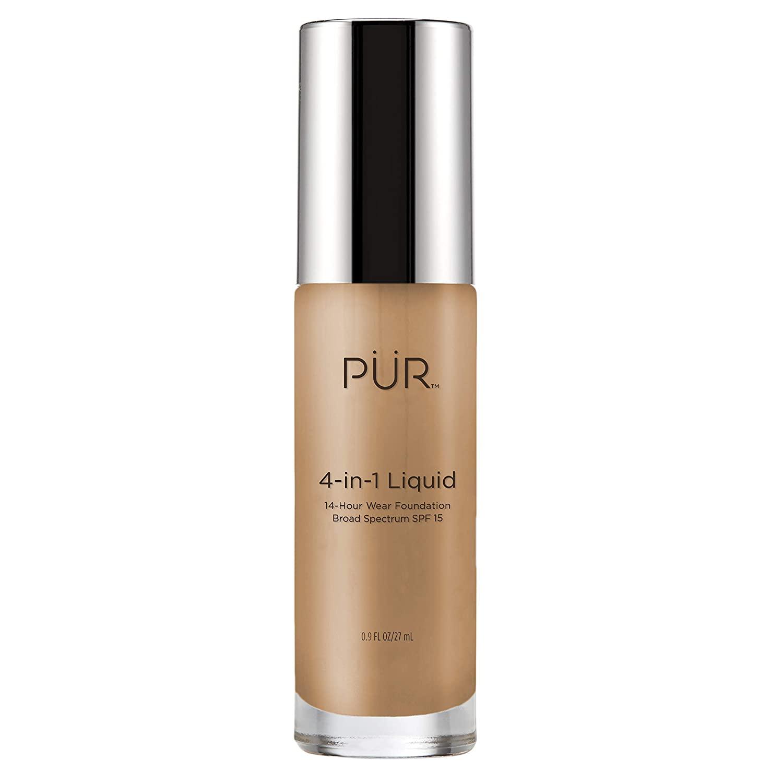 PÜR 4-in-1 Liquid Foundation, Golden Medium, 1 Fl Oz