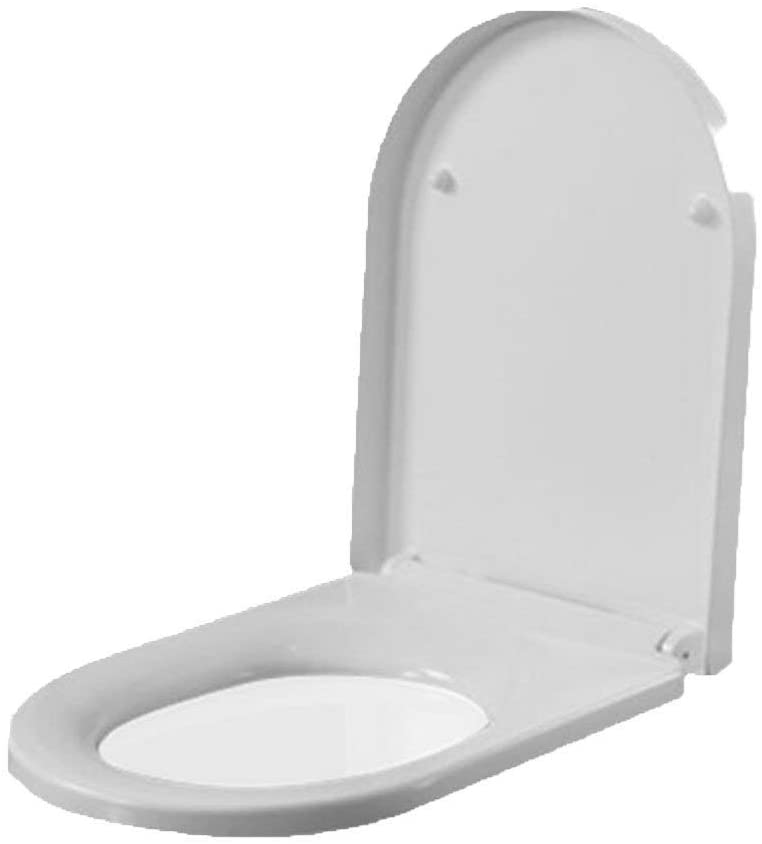 U/V Shape Toilet Lids With Buffer Pad Quick Release Ultra Resistant Toilet Cover For Bathroom And Washroom,White-42-45.5 36.8CM