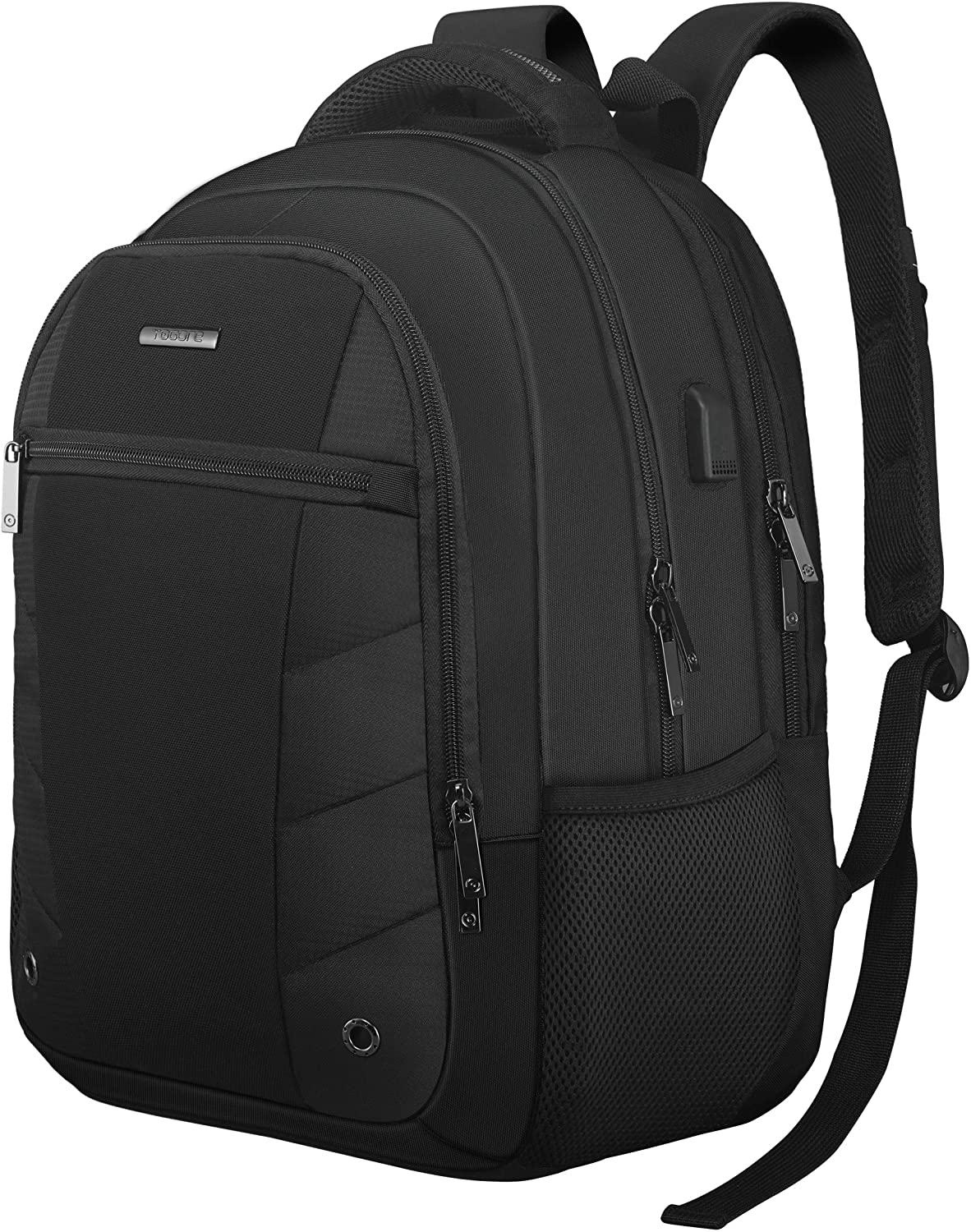 Business Travel Laptop Backpack 17 Inch, TOGORE TripPro Durable Computer Backpack with USB Charging Port for Men & Women, 40L Large Water Resistant College School Backpack-Black