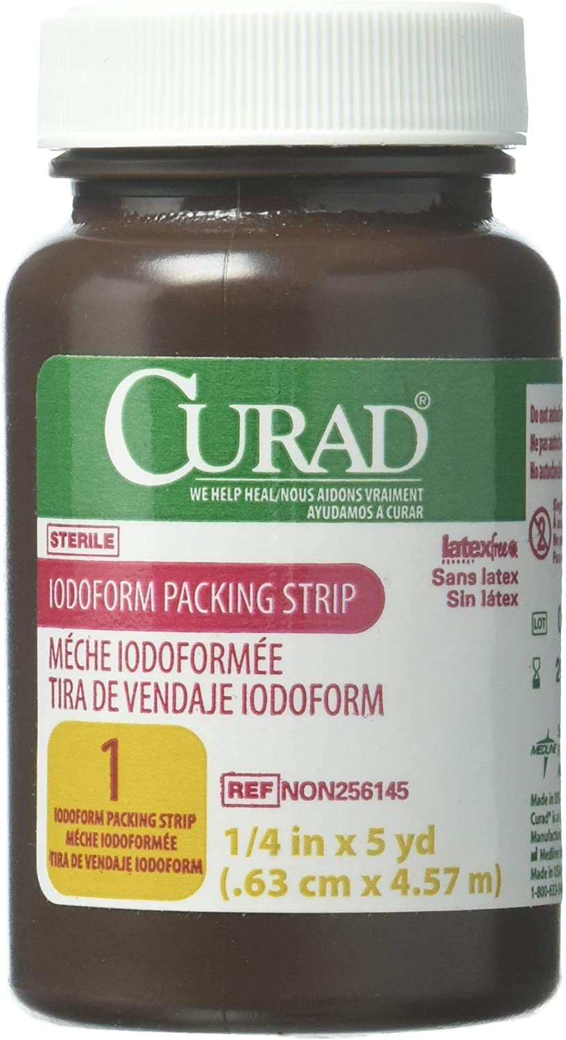 CURAD Sterile Iodoform Packing Strips.