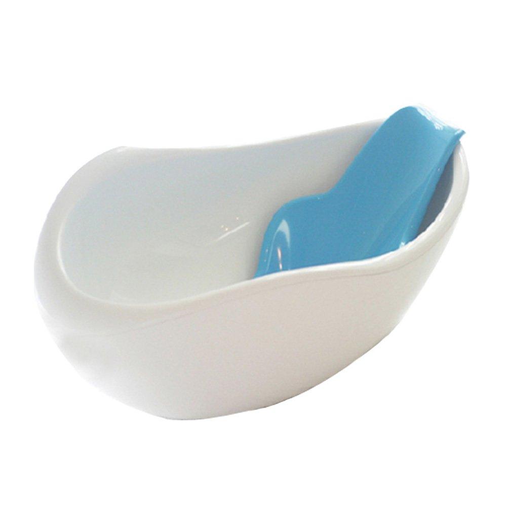 RayQueen Infant Baby Bath Tub JHB-200 Ergonomic knob Temperature Check Wheel (Blue)