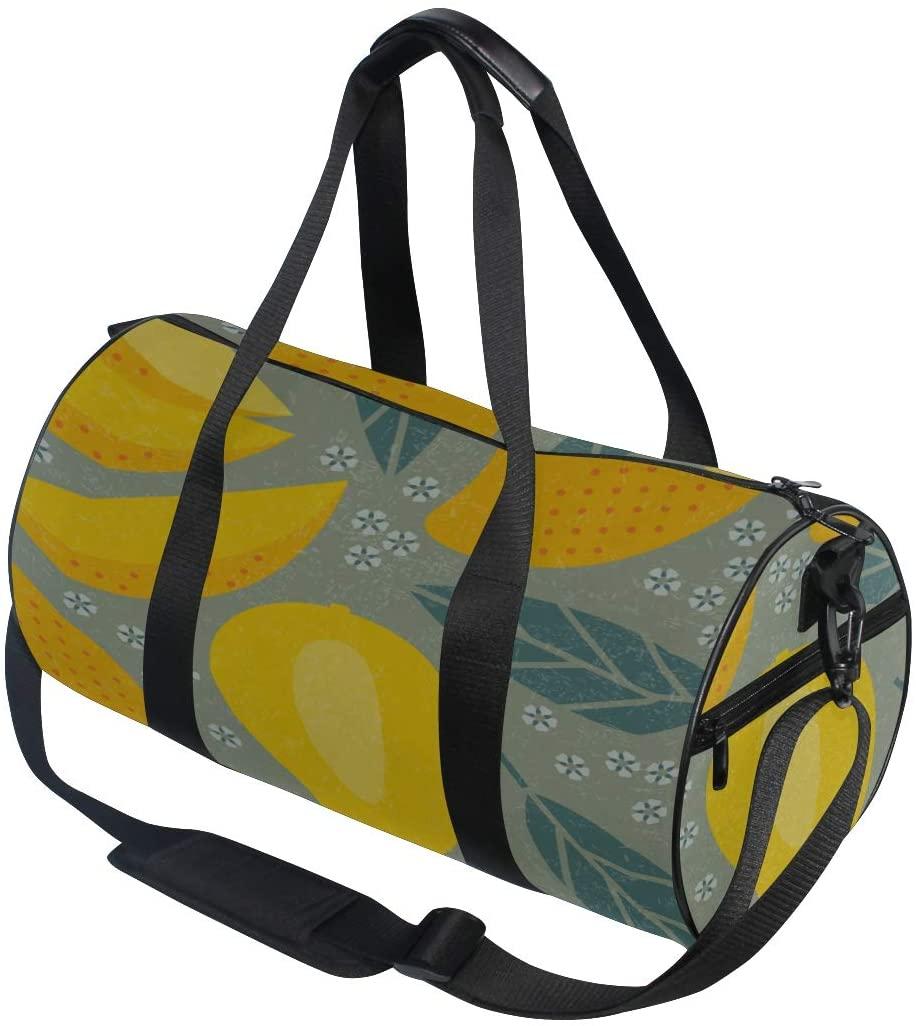 Handbags Delicious Yellow Mango Yoga Gym Totes Handbag Travel Duffel Bags Shoulder Crossbody Fitness Sport Girl Men Women Sports Bag Women