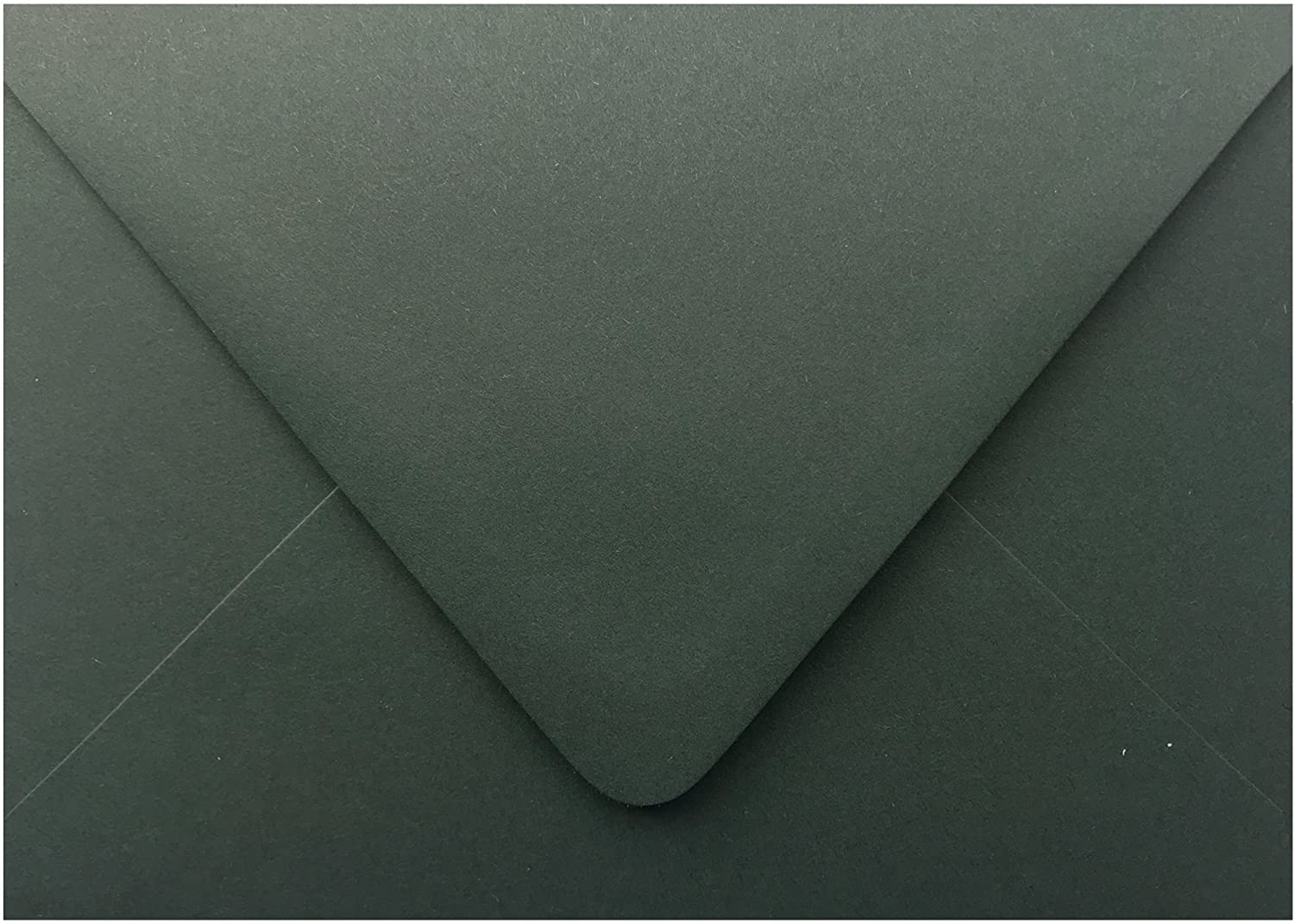 Dark Forest Green Contour Euro Flap 25 Pack A7-70lb Envelopes (5-1/4 x 7-1/4) for 5 x 7 Invitations Announcements Weddings Showers Communion Confirmation Cards by The Envelope Gallery