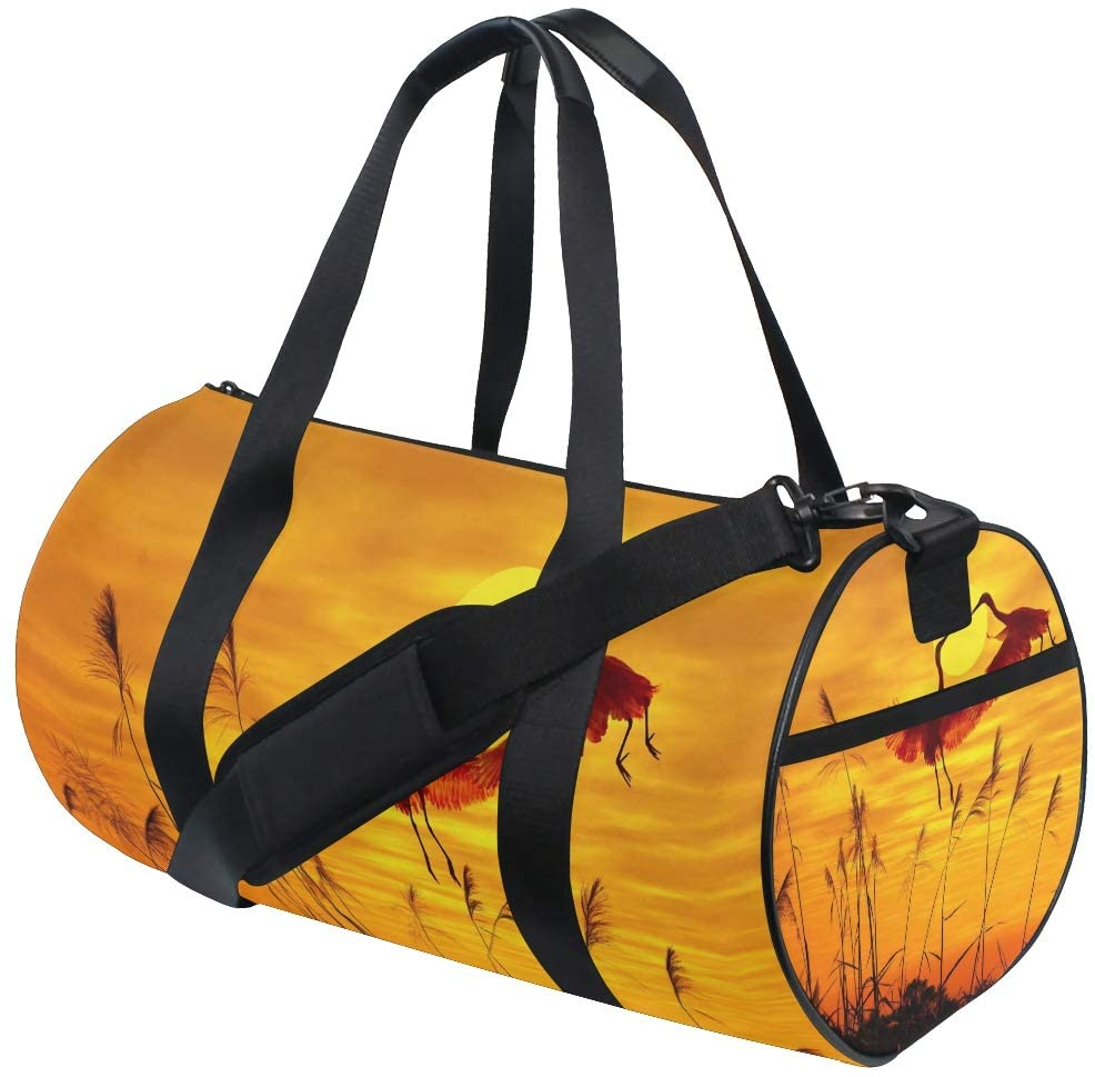 Brighter Flying Birds Sunset Landscape Fitness Sports Bags Gym Bag Travel Duffel Bag for Mens and Womens