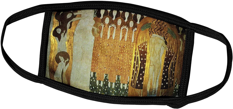 3dRose Florene - Famous Art - Print of Frieze in Beethovens Honor by Klimt - Face Masks (fm_203667_1)