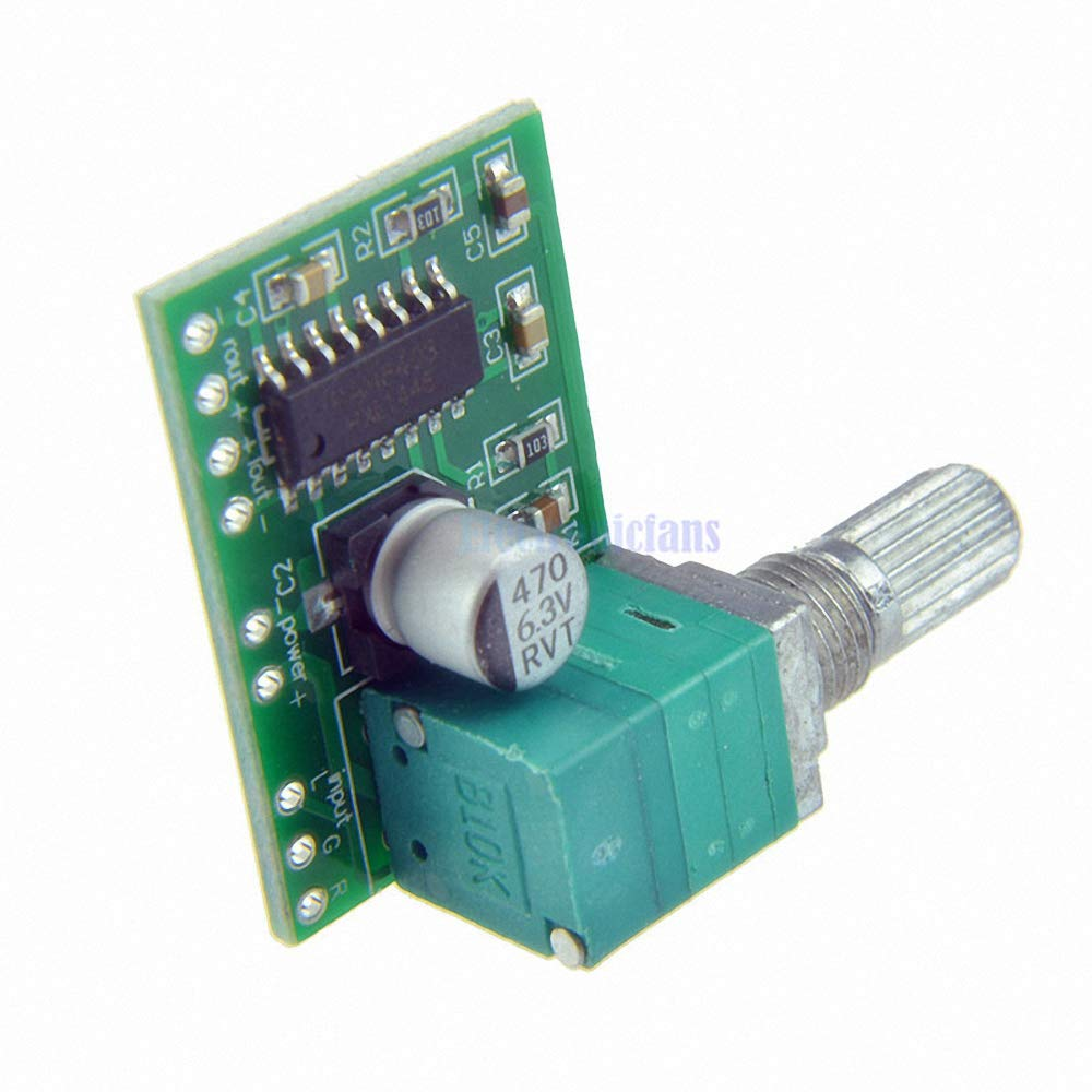 PAM8403 DC 5V Power Audio Amplifier Board 2 Channel 2 3W Volume Control/USB Power with Potentionmeter