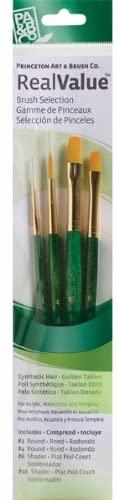 Princeton Artist Brush, Set 9116 4-Pc Gold Taklon