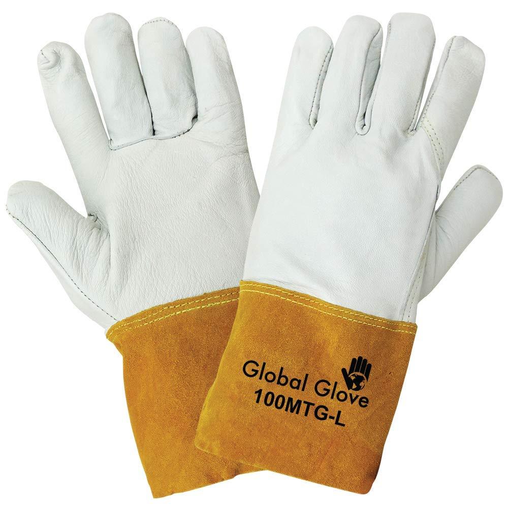 Global Glove 100MTG Goatskin Grain Kevlar Sewn Mig Tig Welder Glove, Work, Extra Large (Case of 72)