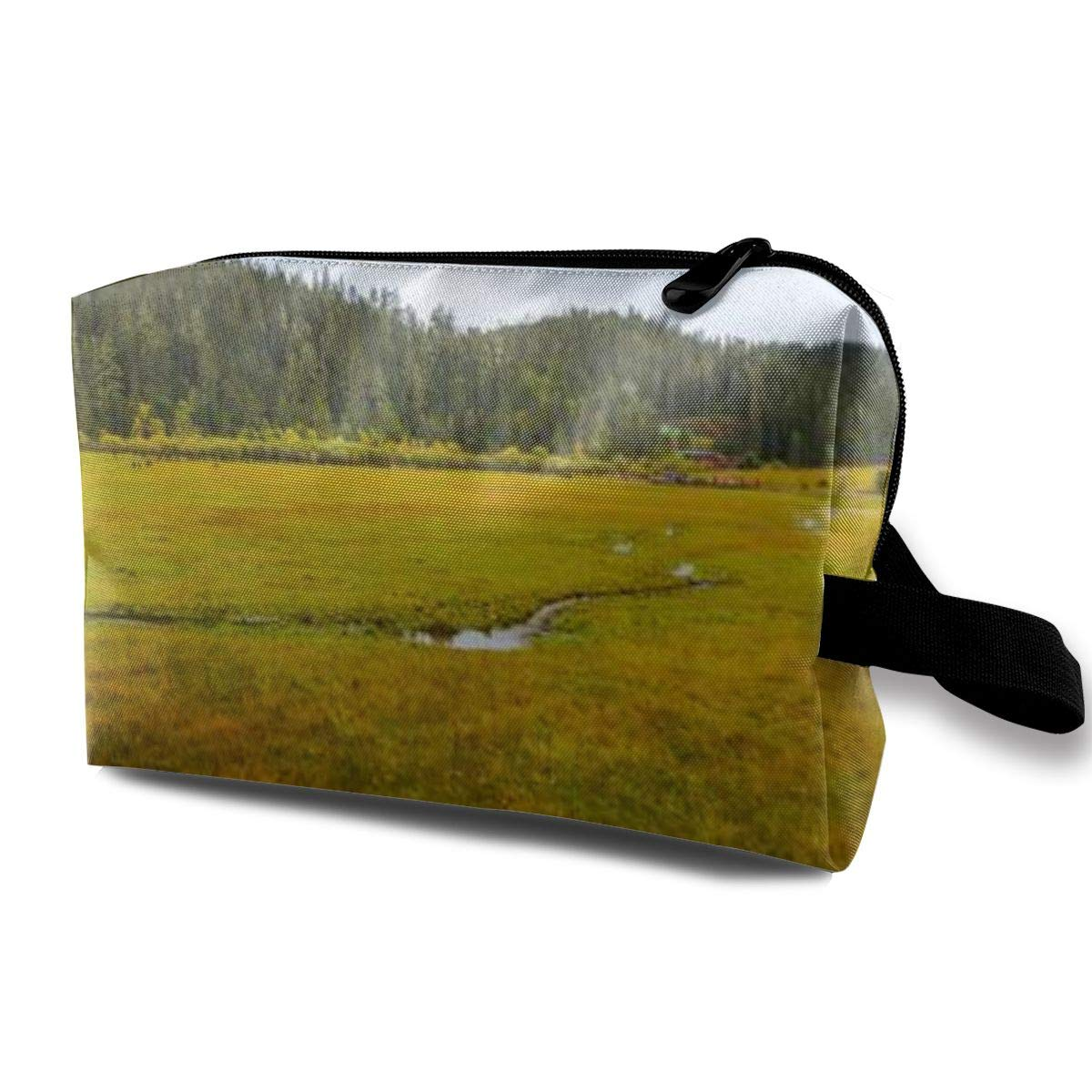 Makeup Bag Cosmetic Pouch Yunnan Shangri La Forest Park Chinese Pudacuo Multi-Functional Bag Travel Kit Storage Bag