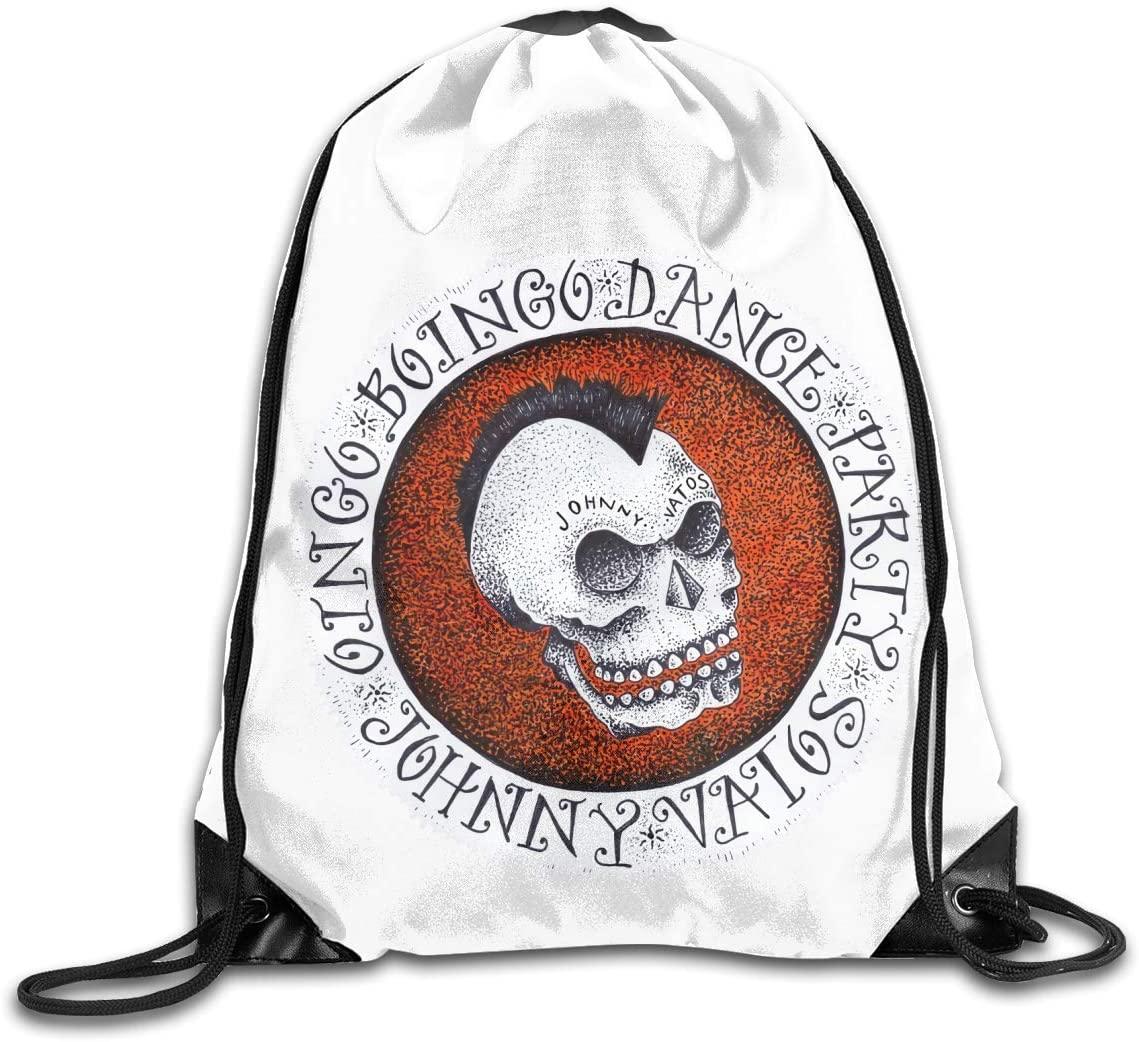 KarleDeal Oingo Boingo Fashion backpack design shoulder drawstring bag man woman bags White One Size