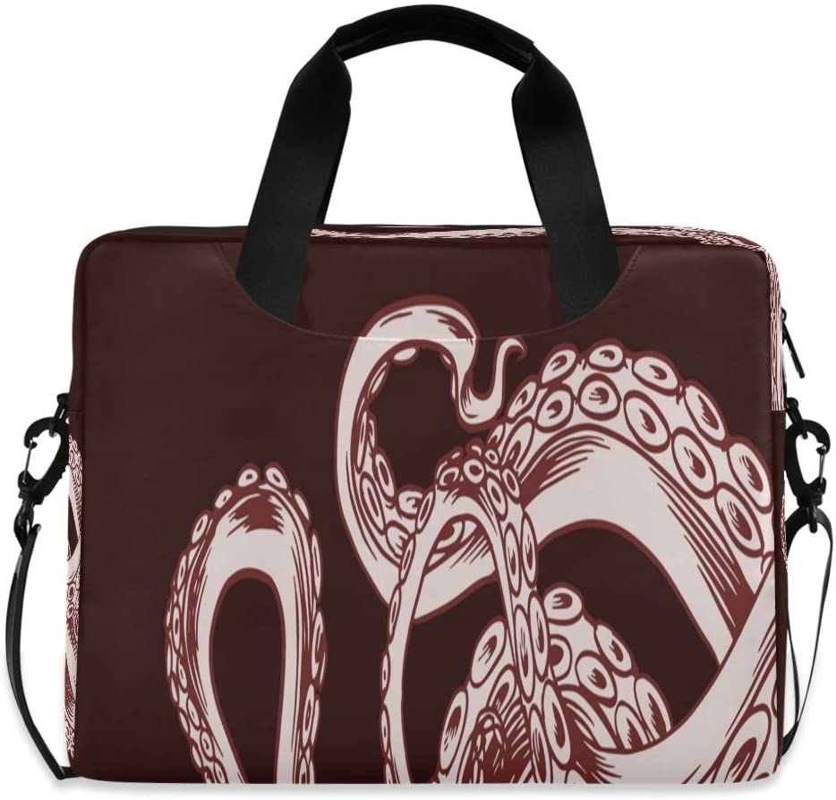 Laptop Bag Briefcase Shoulder Bag - Realistic Octopus Tentacles 15.6 Inch Tote Bag Laptop Messenger Shoulder Bag Carrying Briefcase, Great to Casual, Travel